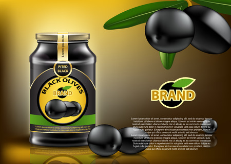 Black Olive can ads mockup.  High resolution vector 矢量图像