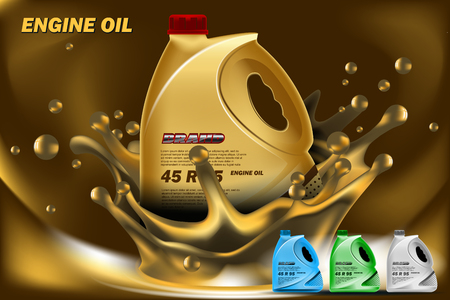 Engine Oil ads mockup. High resolution vector