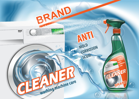 Clean solution ads mockup. High resolution vector