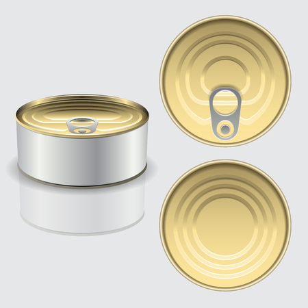 Cans mockup. High resolution vector