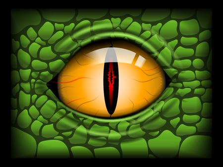 Ojo de dragón aterrador. Vector de alta resolución