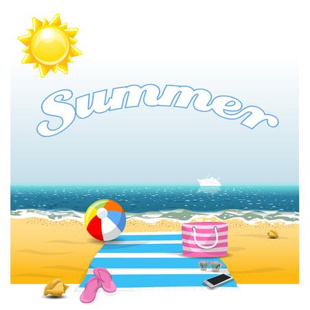 Summer. High resolution vector Illustration