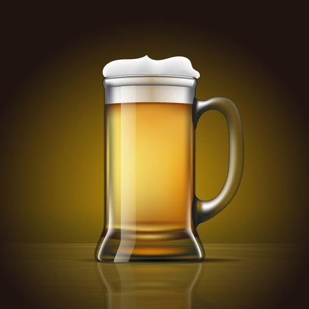 Draft Beer. Layered and editable