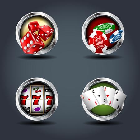 Casino vector graphics.