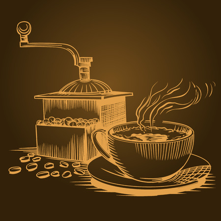 Coffee theme, sketch pictures. EPS 10 Vector graphics. Layered and editable Vectores