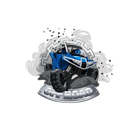 Off-Road ATV Buggy Logo, Smoke dirt ant dust