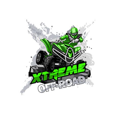 Quad off-road ATV-logo, extreem off-road.