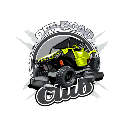 Off-Road ATV Buggy Logo, Off Road Club. Illustration