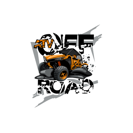 Off-Road ATV Buggy Logo, ATV Off Road. Stock fotó - 113188975