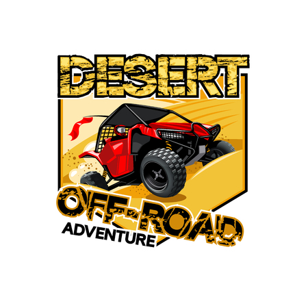 Off-Road ATV Buggy Logo, Desert adventure.