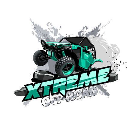Offroad-ATV-Buggy-Logo, extremes Rennen.