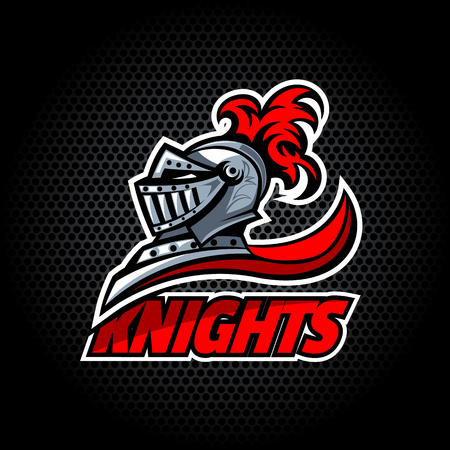 Knights offer logo.  Vector graphics. Layered and editable. Illustration