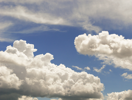 Blue sky background with clouds 스톡 콘텐츠