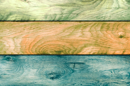 Old boards of different types of wood.