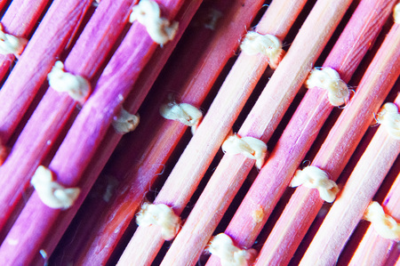 Violet abstract background of interwoven sticks. Reklamní fotografie - 124906362