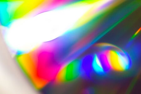 Abstract blurred background of compact disc with beautiful color palette