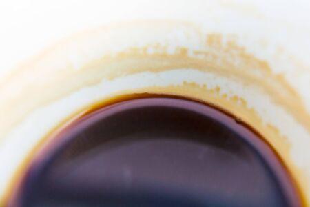 Cup of coffee at close up macro shot. Banco de Imagens - 125970140