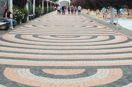 Beautiful road on the promenade along the beach 写真素材
