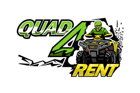ATV Quad Bike for rent, isolated background
