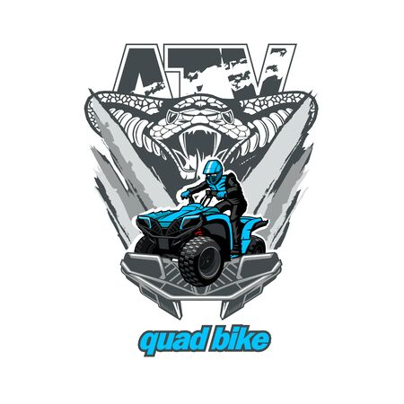ATV Quad Bike with snake in background.