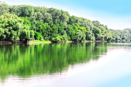 High summer in July on the Dnestr River Stock fotó