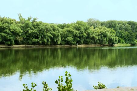Summer day on the Dnestr river 写真素材