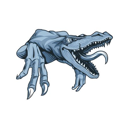 Drawing of predatory dinosaur of Jurassic period