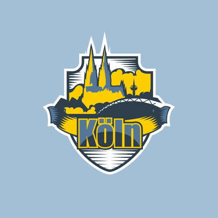 Cologne city emblem logo in two colors.