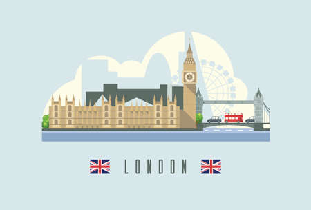 London city skyline capital of England.