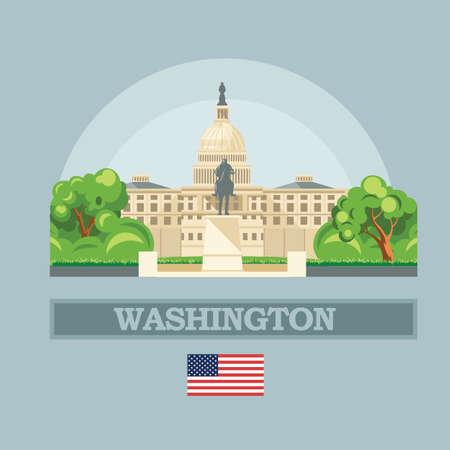 Washington DC skyline in USA.