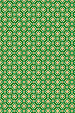 A colorful art deco geometric background in shades of green and cream