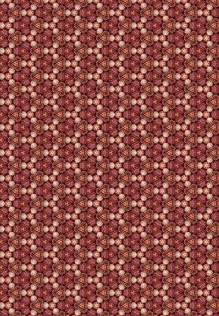 A geometric background pattern of decorative brown and gray dried pine cones 免版税图像