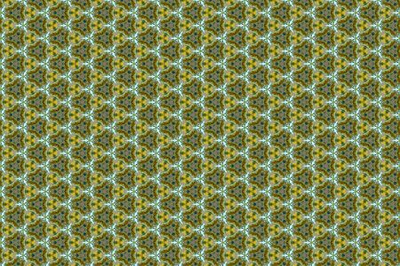 A colorful geometric background of pale green and cream orchid flowers and buds 免版税图像