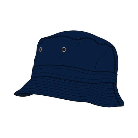 accessoire: Bucket Hat mode-accessoire Vector Template