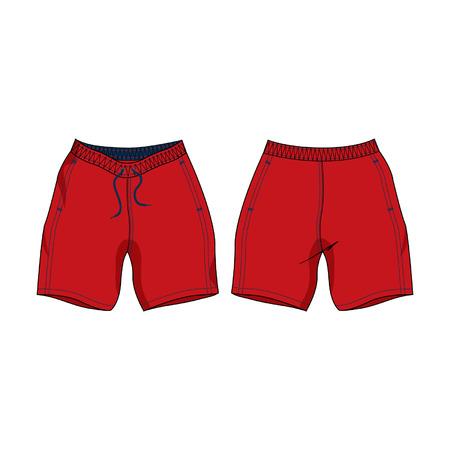 Modèle Mens Swim Shorts Vecteur