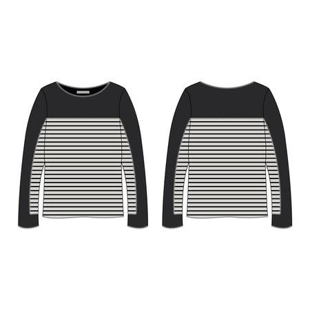 tunic: Women Long Sleeve Tunic Sweater Illustration