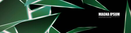 Background of a luminous triangle shape vector design banner. suitable for your design background Ilustrace