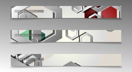 Vector Banner collection for advertisements. abstract background with hexagon shapes