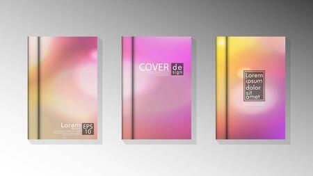 Vector collection of book cover backgrounds for brochures, leaflets, leaflets, poster templates. illustration of eps vector design 10
