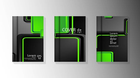 Vector collection of book cover backgrounds for brochures, leaflets, leaflets, poster templates. illustration of eps vector design 10 Фото со стока - 128725981