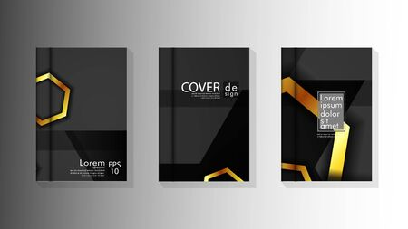 Vector collection of book cover backgrounds for brochures, leaflets, leaflets, poster templates. illustration of eps vector design 10 Фото со стока - 128725992