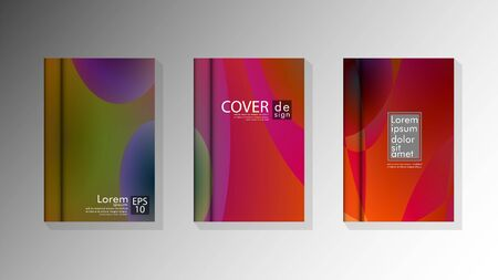 Vector collection of book cover backgrounds for brochures, leaflets, leaflets, poster templates. illustration of eps vector design 10 写真素材 - 128902885