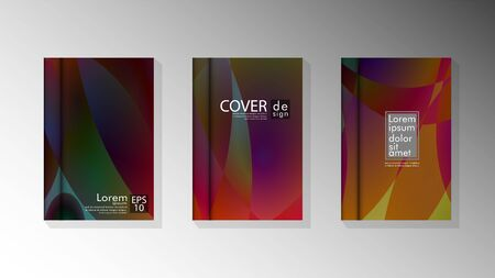 Vector collection of book cover backgrounds for brochures, leaflets, leaflets, poster templates. illustration of eps vector design 10