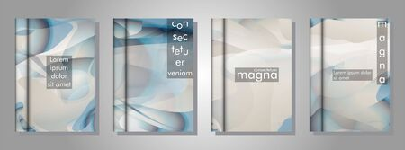 book collection with abstract liquid patterns as background. suitable for any cover. vector illustration of Ilustracja