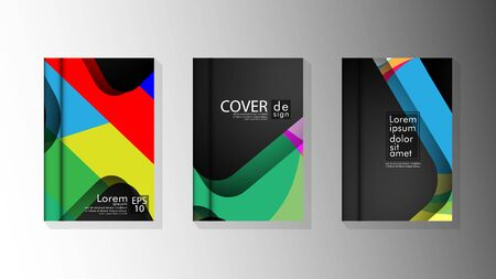 Vector collection of book cover backgrounds. eps 10 vector design illustrations. multicolor