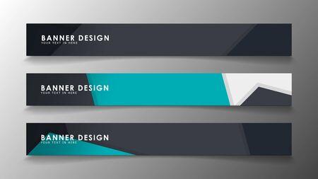 Conjunto de plantillas de banner con fondo abstracto. Banners vectoriales modernos con fondo poligonal. Ilustración de vector
