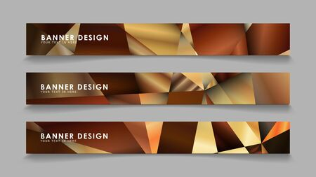 Abstract rectangle vector banners with luxury geometric gradient backgrounds . design templates. future Poster template design
