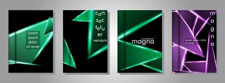 Minimal banner design. Triangular shape vector design background. print templates for ad background Stock Illustratie
