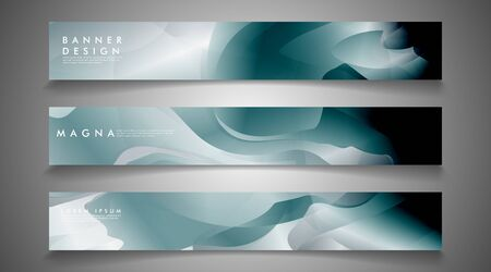 Vector banners with liquid wave background suitable for advertising and so on. technology design.