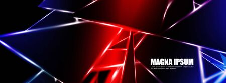 Background of a luminous triangle shape vector design banner. suitable for your design background Иллюстрация